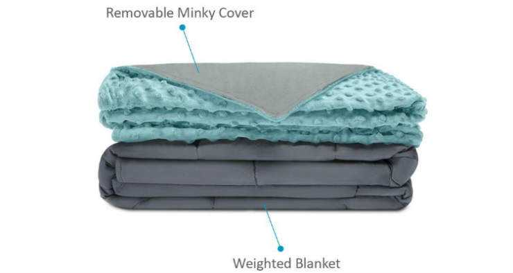 Quility Kids Weighted Blanket - Aqua